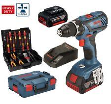 Bosch Batterie-Visseuse GSR 18v-28 2 x 5,0 Ah Batterie L-BOXX + Wiha Outil-Set