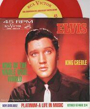 "7"" Elvis Presley - King Creole - USA - PS - rotes Vinyl - rar & neu!!!"
