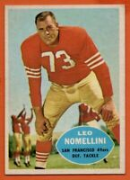 1960 Topps #121 Leo Nomellini EX-EX+ San Francisco 49ers HOF FREE SHIPPING