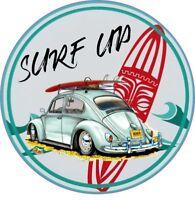 Surfs Up Surfing Vinyl Decal Car Sticker JDM  VW Transporter Camper Surf Beetle