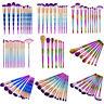 Espiral Pincels Brochas De Maquillaje Cosmético Polvo Set Colorete Herramienta