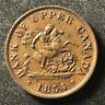 Canada 1854 Half Penny Token Un Sou PC-5C1 / Breton 720