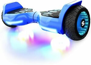 Swagtron Kids Hoverboard T580 Warrior Music-Synced & LED Wheel Dual 250W Motors