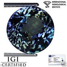 5.30 Ct IGI Certified AA Natural D Block Tanzanite Violet Green Round Cut
