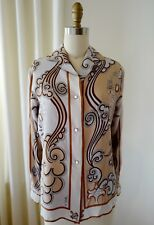 Iconic Vintage Emilio Pucci Blouse Hippy Mod Perfection