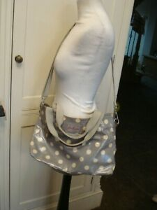 CATH KIDSTON DAY BAG ~GREY BUTTON SPOT~ Polka Dot Tote Or Shoulder