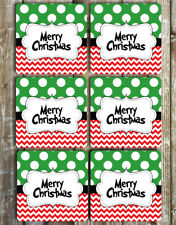 Merry Christmas Coasters Set of 6 Neoprene Coasters