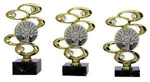 """3er Serie Pokale """"Diamant""""-Angeln (570-A) 22 - 20 cm inkl.Gravur 23,95 EUR"""