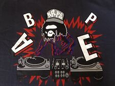 A Bathing Ape Bape DJ Collab Ape T Shirt Rare XL BBC Kaws Baby Milo Authentic