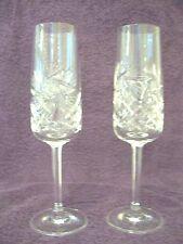 Cut Glass Molded Contemporary & Traditional Champagne Flutes 449