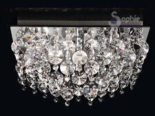 Lampadario lampada a soffitto plafoniera sospensione cristallo cromo moderno