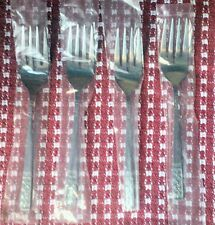 "New Lot 4 Customcraft CUS3 Salad Forks Stainless Steel 6.25"" NOS Fleur De Lis"