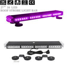 "27"" Led Emergency Warning Safety Vehicle Tow Truck Purple Roof Strobe Light Bar"