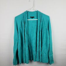 Lafayette 148 New York Womens Cardigan Size S Blue Open Front Long SLeeve Casual