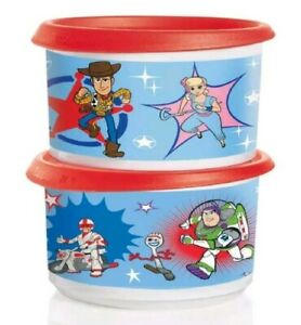 Tupperware Toy Story Canister Set of (2) Storage Organization Kitchen Food Prep
