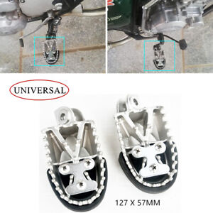 Heavy Duty Motorcycle Foot Pegs Forefoot Pedals Foot Rest Widen Footpegs Front