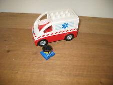 DUPLO LEGO pushalong Van Camionneur jouer Figure Barre De Remorquage déroulant rampe semblant