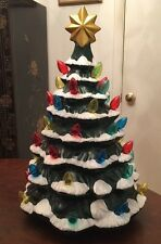 Lighted Ceramic Christmas Tree • 18 Inches Tall