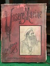 UNSERE MARINE 1891 CW Allers 2nd Ed. REPRINT German Navy Pencil Drawings RARE!