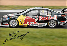 Jamie P.A.E. signé 12x8, Red Bull Holden Commodore, CLIPSAL 500 Adelaide 2013.