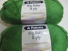 PATONS BIG BABY 8 PLY YARN, 2 BALLS KIWI,100GR,NO 2580,