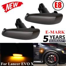 2PCS Smoke LED Side Fender Turn Signal Light Lamp 8351A001 For Lancer EVO X HOT~
