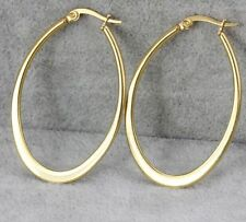 new good gift for women's yellow gold oval shape stainless steel earring dangle