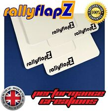 RallyflapZ FORD FIESTA st180 qty4 Mud BECQUET /& Fixings Black 4 mm PVC Logo Blue