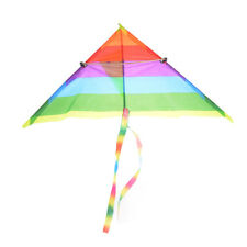 Rainbow Kite Outdoor Baby Toy For Kids Kites without Control Bar and LineDHK