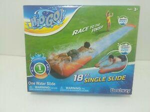 Bestway Water Slide, Build in Speed Ramp, Drench Pool,18 ft, Orange/Blue, H2O Go