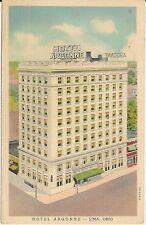 Hotel Argonne in Lima OH Postcard 1941