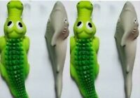 Squeaking Dog Toys (2) Sharks AND (2) Crocodiles - Made Of Soft Durable Latex