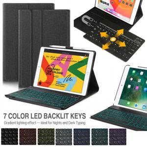 """DEUTSCHE Beleuchtet Tastatur für iPad 10.2"""" 7.Gen/Air 3/Pro 10.5 mit Schutzhülle"""