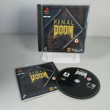 Final Doom Playstation PS1 Action Rare Video Game Manual PAL