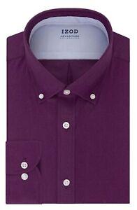 Izod ~ Advantage CoolFX Men's Big Fit Size 20 Button Down Dress Shirt $65 NWT