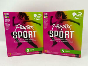 (2 Pack) Playtex Sport Tampons with Flex-Fit Technology, Super, Unscented - 18