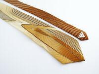 Vitaliano Pancaldi MensTie Multi Color Gold w Chain Abstract Geometric 100% Silk