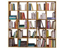 5x Bücherregal Regal Regalwand Bücherwand Aktenregal Büroregal Holzregal Eiche
