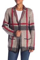 NWT JOSEPH A Notch Lapel Marled Stripe Cardigan Coat