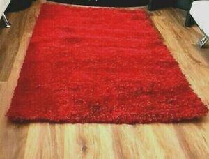 Shaggy Polypropylene THICK Pile  RED Colour Area Rug 120x170cm