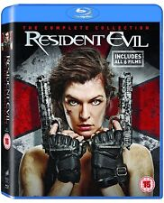 RESIDENT EVIL COMPLETE COLLECTION 1 2 3 4 5 6 BLU RAY 6 DISCS 1-6 MILLA JOVOVICH