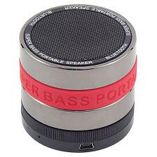 Red Wireless Mini Portable Striped Bluetooth Super Bass Speaker Samsung iPhone S