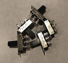 Lot of 5 pieces NOS Stackpole Slide Switch 3 amp 125v AC 5 amp 12v On Off Fender