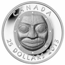 2013 $25 1oz .9999% PURE SILVER  GRANDMOTHER MOON MASK ULTRA HIGH RELIEF