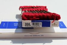 NEW DMC Embroidery Floss #304 (Medium Red) - a box contains 12 skeins