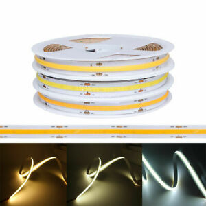 COB FOB bande led 12V 24V 384led/M 1M 5Mleds chambre lampe luminaire led ruban