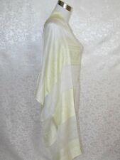 NEW 100% Silk Scarf Shawl Cream Yellow G1011