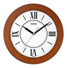 """Relógio Casio Analógico Quartzo 10"""" Estojo De Madeira Relógio De Parede IQ126-5B"""