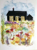 Signed Print Of Original Painting Derek Jarman Prospect Cottage Dungeness A5