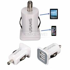 Weiß Dual Port 3.1A USB Lade KFZ Adapter Ladegerät Für Apple iPhone iPad iPod
